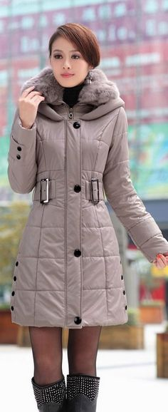 Belted Casual Winter Jacket