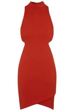 High Neck Cut-Out Mini Dress