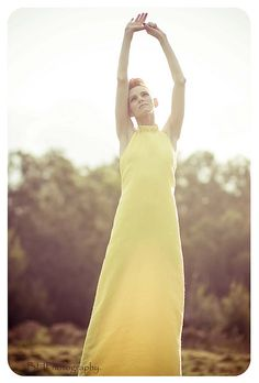 yellow dress.