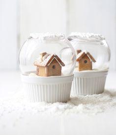 Un gâteau spécial hiver en forme de boule à neige