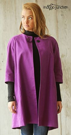 Indygo Junction's vintage inspired Sophia Swing Coat is a classic, flattering style that can be easily personalized to reflect your style. $15.99