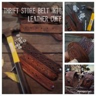 DIY leather cuff - Ive also used the strap from an old leather purse too
