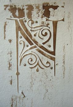 idea for letters cut into stencil for embossing