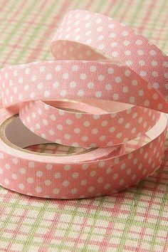 TapeWashi TapeFabric TapeLight Pink Polka Dots by sugarbsupplies, $5.00
