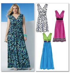NEW QUICK & EASY McCALLS PATTERN/4 PLUS SIZE TANK DRESSES/18-24