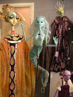 Mermaid Rod Puppet, great mood and aesthetics, an idea to draw upon for the 'tribes' inhabiters