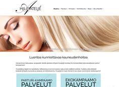 Hiusateljé on Hämeenlinnan keskustassa sijaitseva parturi-kampaamo. Uudet kotisivut toteutettiin Kotisivukoneen Avaimet käteen -palvelun avulla.
