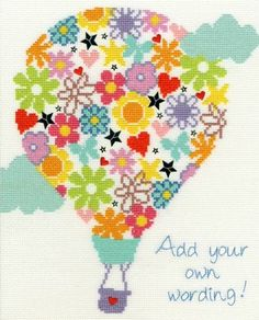 Balloon Bouquet Cross Stitch Kit £24.00 | Past Impressions | Bothy Threads