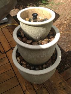 Step 9 How To Turn Plant Pots Into A Water Fountain | The Interior Frugalista