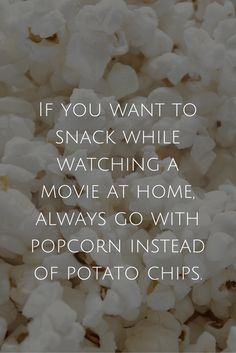 Healthy Eating Tip for Busy People 3 of 10 - Snack on popcorn instead of chips No More Excuses, Healthy Eating Tips, Popcorn, Chips, Snacks, Business, People, Clean Eating Tips, Appetizers