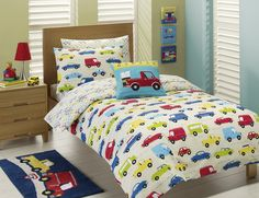 Little boys car bedroom- Seth would love this!!!