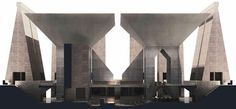 Hurva Synagogue, 1968-1974 unbuilt project by Louis I. Kahn.