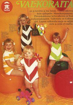 Tutan valkoraita 1974 Kuvat: m etsola.co Metsolan diagonal -sarjan vaatteita kesä 2012