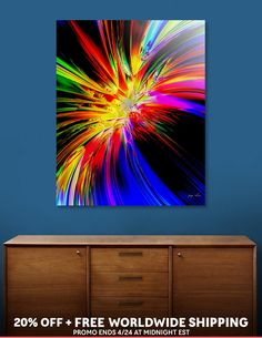 Discover «Ignite», Limited Edition Acrylic Glass Print by Glink - From $99 - Curioos