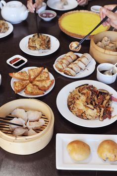 A homemade feast of 8 dim sum dishes -- mouthwatering, bite-sized morsels of varying textures, preparations, and succulent flavors.