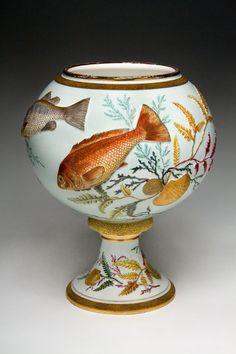 "Edward Lycett (American, born England, 1833-1910). Faience Manufacturing Company (1881-1892). ""Vase,"" 1886-90."