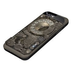 Steampunk Rotary Metal Dial Phone. Case. iPhone 6 Case★ #Steampunk #Samsung #iphone #Cases #S6 #S7 #ipad #samsunggalaxys #victorian #phonecases #accessories #gosstudio