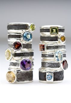 Matthieu Cheminee. found rusted metal, rings.