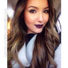 Vampy Makeup & Ombre hair