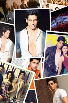 My collage of Sidharth Malhotra from Student Of The Year! So excited to see it :)