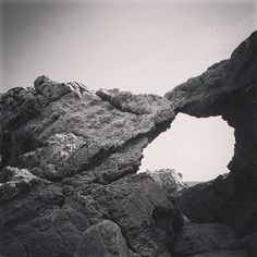 Leo Carrillo State Beach #rocks #beach #bw #blackandwhite #scenic #landscape #outdoors #geology #california