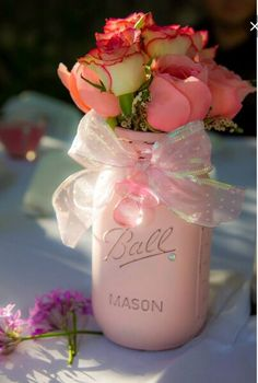 Chic baby shower ideas  Mayson jars - easy/cheap to make  ! And still such a classy look