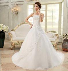 New White/ivory Wedding Dress Bride Gown Size Custom 6 8 10 12 14 16 18++