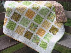 Love this quilt pattern, I've made it twice already with Moda fabrics for two baby quilts. I highly suggest it for any quilter, even a beginner... SweetJane on Etsy has great options!