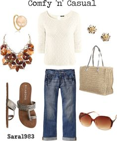 Comfy 'n' Casual, created by saraemersonhb on Polyvore