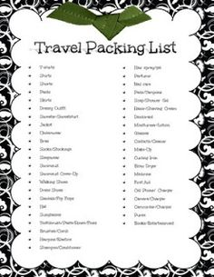 Digital Scrapbooking Made Easy: Travel Packing Checklist