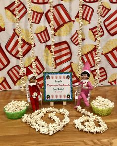 Andy the Elf and Trixie have been busy stringing popcorn garlands 🍿🎄🍿🎄🍿 The Elf, Elf On The Shelf, Popcorn Garland, Elf Magic, Garlands, Christmas Eve, Gingerbread Cookies, Stuff To Do, Fall Winter