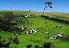 Hobbit village, New Zealand. Definitely visiting Frodo and Biblo!!!