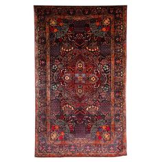 Persian Amoghli Carpet with Organic Wool and Dyes, circa 1890   See more antique and modern Rugs at https://www.1stdibs.com/furniture/more-furniture-collectibles/rugs
