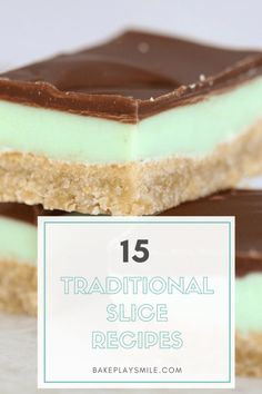 The ultimate collection of 15 Classic & Traditional Slice Recipes. From caramel slice to jelly slice, hedgehog slice to peppermint slice… and so much more! Chocolate Coconut Slice, Chocolate Cups, Baking Recipes, Dessert Recipes, Bar Recipes, Cookie Desserts, Recipies, Peppermint Slice, Delicious Desserts