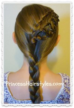 feather chain braid with braided ponytail