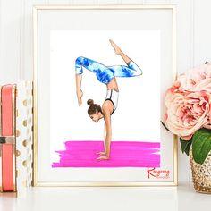 Arte del yoga Yoga impresión arte de pared de Yoga arte