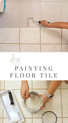 Today we're sharing our process and the huge impact painting our tile floors in the jack and jill bathroom at the Touch Gold Project made! We partnered with Rust-Oleum and it was beyond easy! Household Cleaning Tips, House Cleaning Tips, Diy Bathroom Remodel, Bathroom Interior, White Bathroom, Master Bathroom, Shiplap Bathroom, Mirror Bathroom, Boho Bathroom