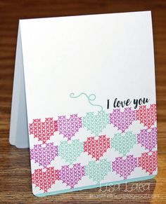 Cross Stitch LOVE Note