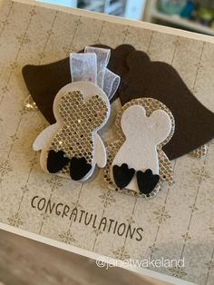 Palm Beach Sandals, Penguins, Stampin Up, Congratulations, December, Mini, Cards, Penguin, Stamping Up