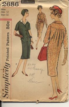 1950s Slenderette Sack Dress Pattern Simplicity by CynicalGirl