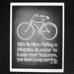 chalkboard art print chalk board bike typography by Printpressfmt