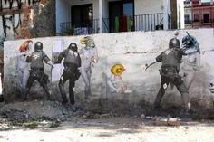 Police Vs. Street Art. Artwork: Vinz - Valencia
