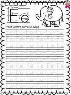 Fabuloso libro de trazos para preescolar, primer y segundo grado de primaria Preschool Writing, Preschool Letters, Preschool Education, Preschool Classroom, Preschool Learning, Learning Activities, Teaching, Writing Practice Worksheets, Handwriting Worksheets