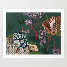 Gossip Girls Art Print by artyguava Gossip Girls, From The Ground Up, Buy Frames, Printing Process, Gallery Wall, Seasons, Make It Yourself, Art Prints, Painting