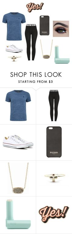 """""""Untitled #80"""" by arbaugh-madison on Polyvore featuring Calvin Klein, Converse, Balmain, Kendra Scott, Eos and Anya Hindmarch"""