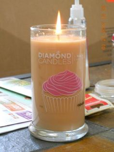 diamond candles this one i look at and it makes me smell cupcakes right away!!