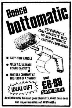 "That ""Available now"" bit cracks me up. From Viz comic FB page. Funny Advertising, Funny Ads, Funny Shit, Fun Funny, Funny Stuff, Vintage Medical, Vintage Ads, Funny Posters, Old Ads"