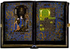 The Black Hours, one of a very few manuscripts on vellum that is dyed black.