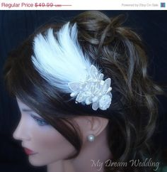 Ballet Reference Make Feather Hair Pieces For Sisters Bridal Fascinator Headpiece