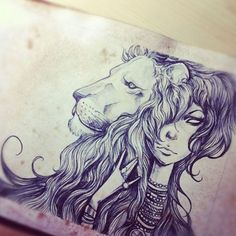 Lion girl. Don't like the hand too much...